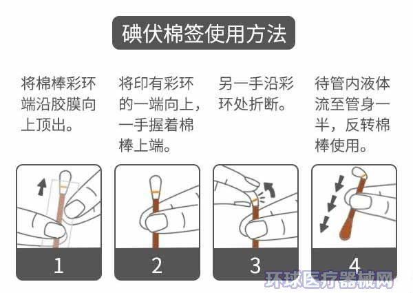 碘伏棉签的使用方法你知道吗 金麦道 脐带消毒碘伏棉签用法图解