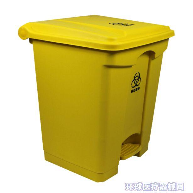 P-Y104 50升脚踏式医疗垃圾桶 规格:L410*W400*H600MM 本产品采用高密度聚丙烯塑料制造而成的医疗废物垃圾桶,不含PVC成份,它桶身光滑,容易清洗,套上医用垃圾袋,不容易受医疗废物细菌感染。还具有无毒、耐热、耐寒、耐穿刺、抗震、不渗漏等优点,密度聚乙烯(PE)聚丙烯(PP)混和料制造。 2.