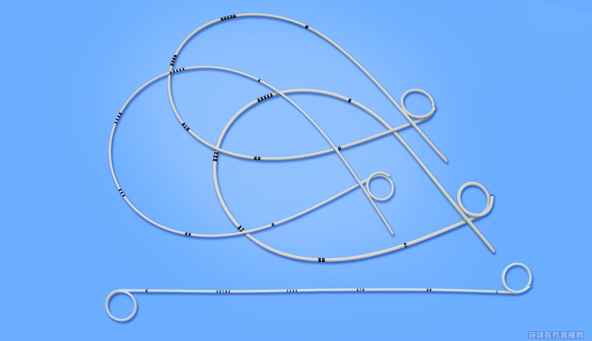 一次性使用无菌猪尾导尿支架