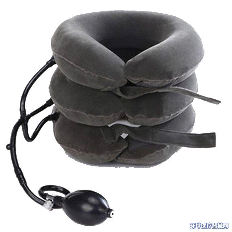 【厂家直销】三管式全绒便携式颈椎牵引器家用充气式颈椎治疗器