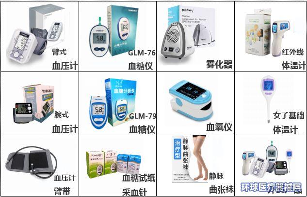 批发零售电子血糖仪电子血压计雾化器的永诺厂家