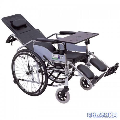 温州残疾人老年人骨伤康复护理轮椅推椅高靠背可躺带便孔