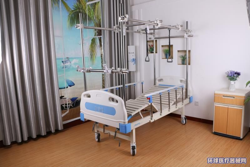医用不锈钢铝合金多功能骨科牵引床骨架颈腰椎康复三摇护理床