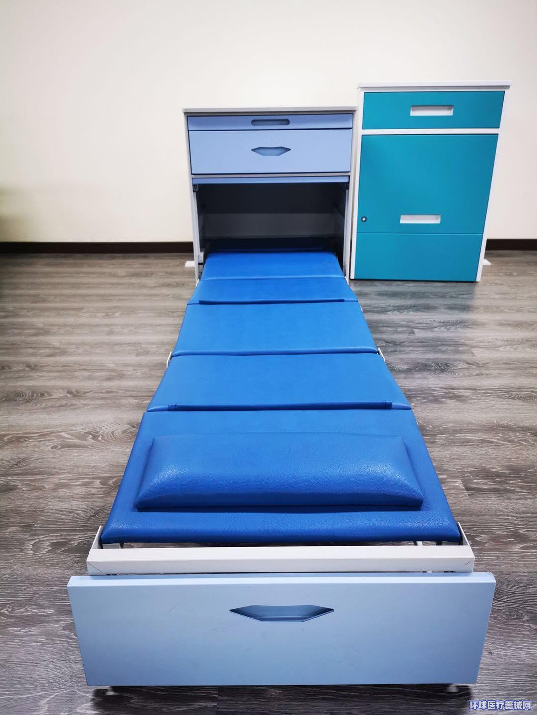 扫码开锁共享陪护床床柜两用折叠床