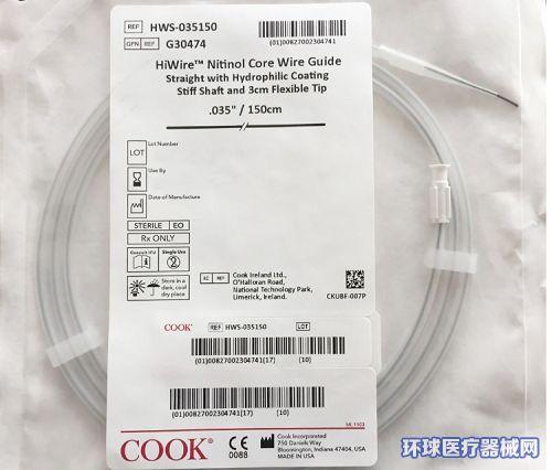 美国库克COOK导丝HWS-035150