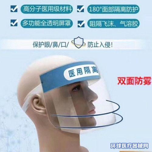 康泉医用隔离面罩(防飞溅防护面罩)